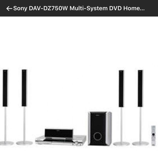 Home cinema Sony Multi System DVD