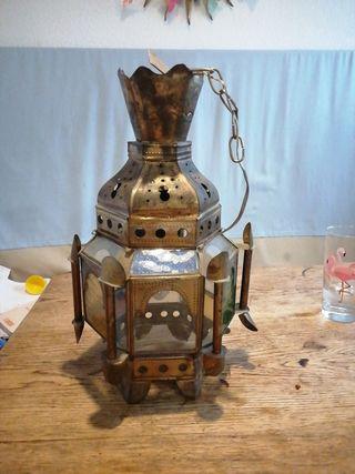 lámpara árabe vintage techo