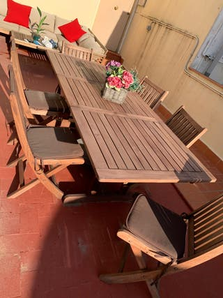 Mesa de madera para interior o exterior