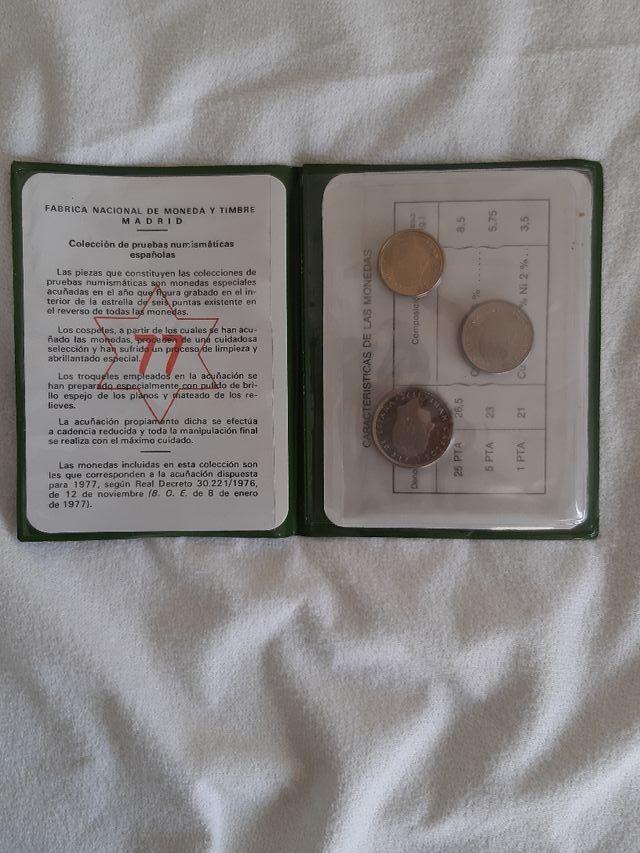 monedas de pesetas del año 1975