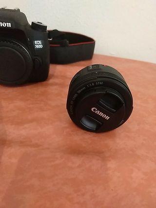 CAMARA CANON EOS 760D + OBJETIVO 50MM f/1.8