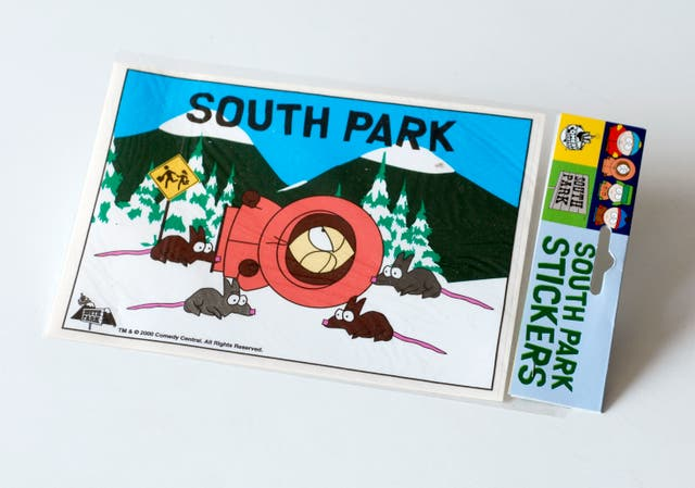 Pegatina sticker South Park. Personaje en la nieve