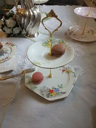 cake stand soporte tartas porcelana inglesa