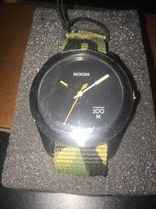 Reloj Nixon quad woodland nuevo sin estrenar