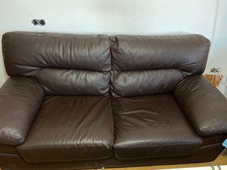 Sofa polipiel 3 plazas ( 2 unidades )
