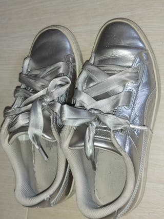 zapatillas puma talla 39 y converse 40 de mujer