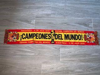 Bufanda selección española Campeoones del mundo.
