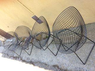 Set 4 Sillas sillones Diamante diseño Bertoia