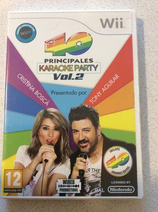 40 principales Karaoke party vol.2 Wii