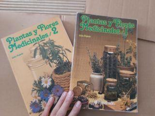 Pareja Libros plantas y flores medicinales