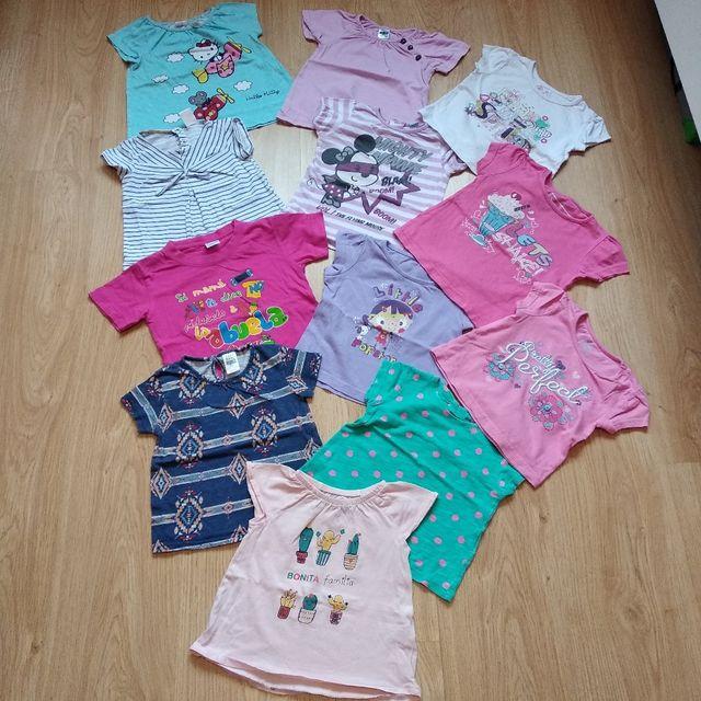 Lote 12 camisetas 9-12, 12-18 meses