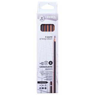 Caja de 6 lápices técnicos LYRA Graduate Graphite