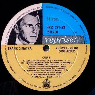 """FRANK SINATRA """"VUELVE EL DE LOS OJHOS AZULES"""" LP"""