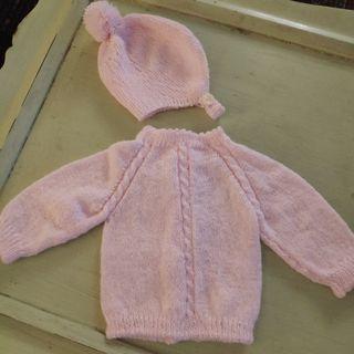 conjunto recién nacido hecho a mano
