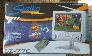 "TV portátil 7"" LCD Suzika - Nuevo"