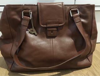 Bolso shopping piel marrón