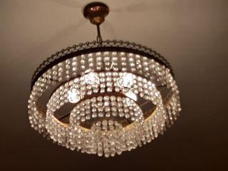 lámpara araña cristal vintage