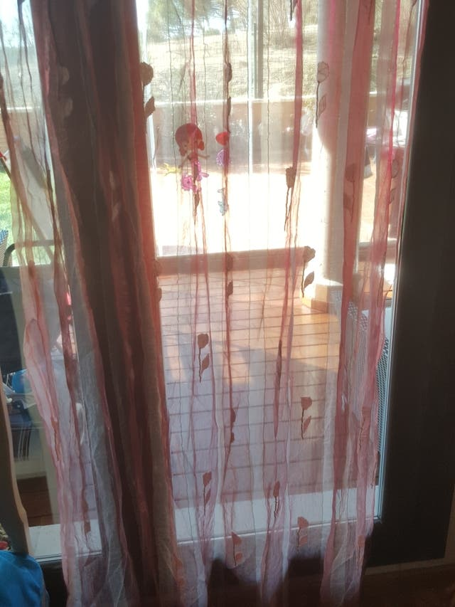 cortinas de salon bordadas