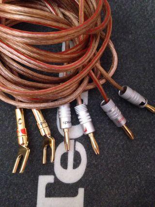 Cables altavoces hifi banana / spada conector