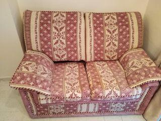sofa de dos plazas de facil lavado,