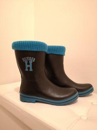 Botas Hilfiger con calcetín y caja original