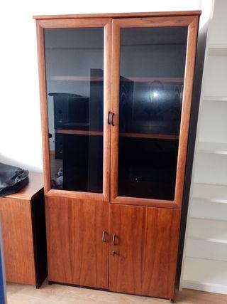 mueble alto estantería con puertas