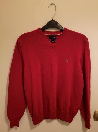 Jersey Gant original, rojo, 13-14 años