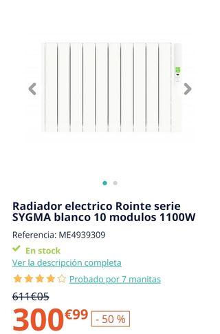 radiador bajo consumo rointe sygma 10 elementos