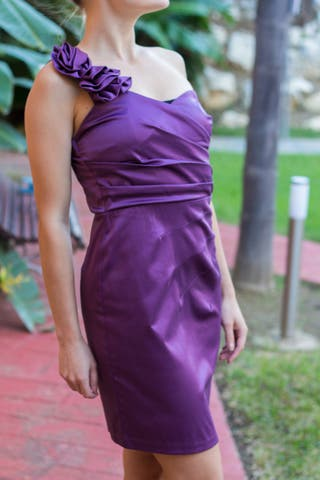 Vestido fiesta elegante Mystic mujer disco flor
