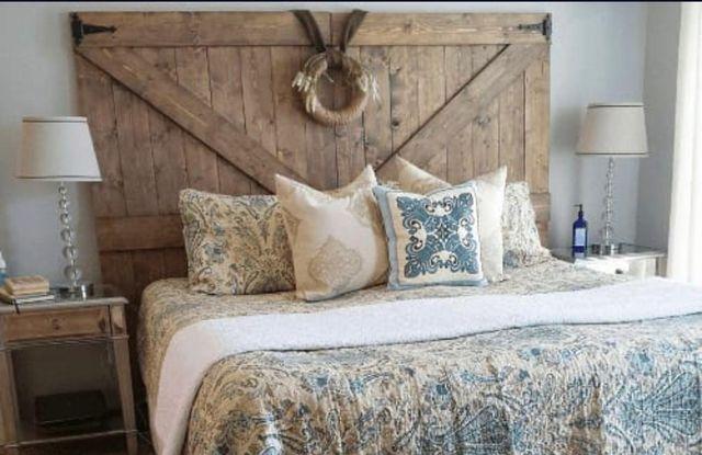 Cabecero cama rustico madera palets