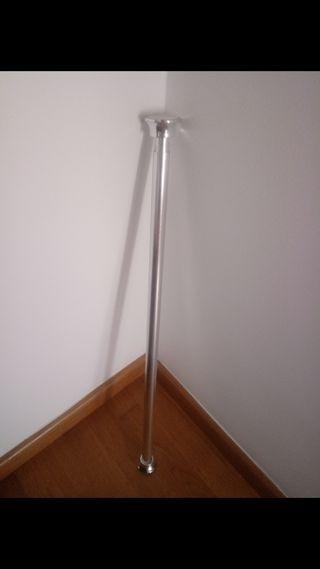 barra cortina en acero hasta 130 cm