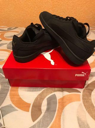 Zapatillas Puma Smash Buck negras talla 39