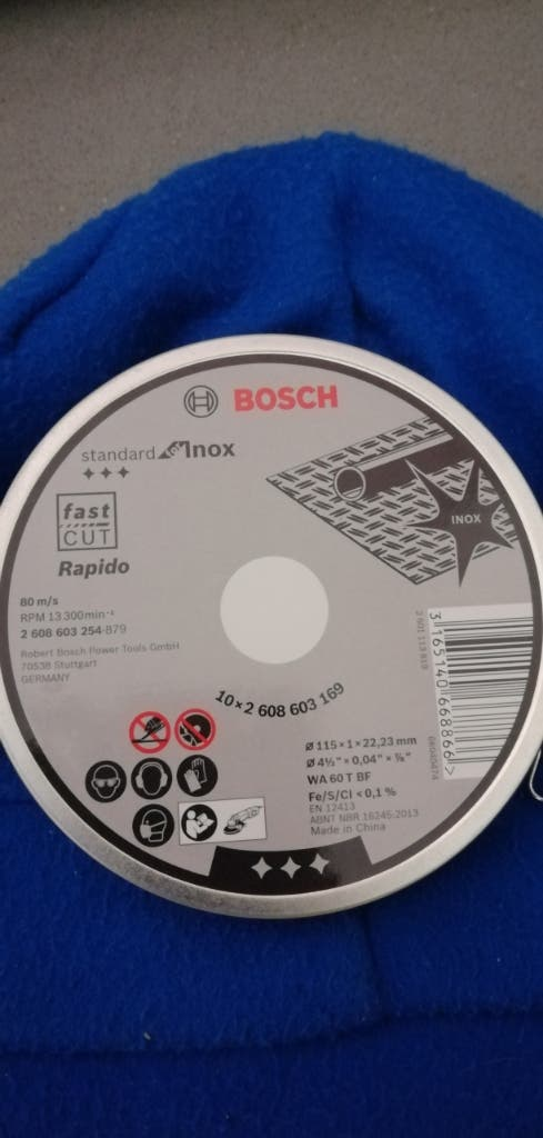 10 Discos de radial, marca Bosch