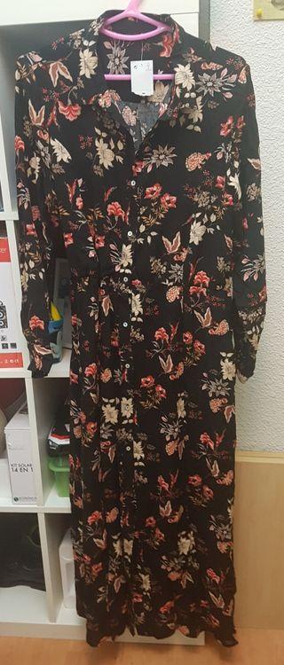vestido flores talla L