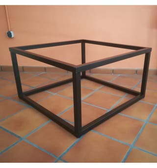 Mesa de camilla de forja elevable 90x90