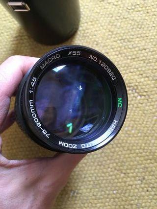 Objetivo Nikon Hansa 75-200 f:4,5 como nuevo.