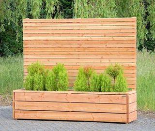 Jardinera valla ocultación exterior madera