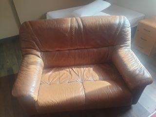 sofá 2 plazas de piel