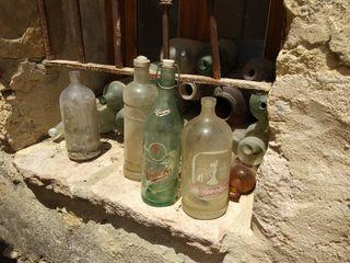 Botellas y sifones antiguos