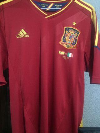 Camiseta oficial Seleccion Española 2012 firmada