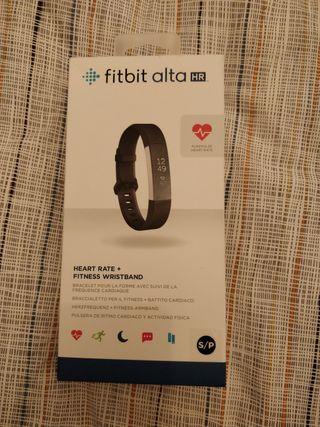 Pulsera de actividad Fitbit Alta HR color negro.