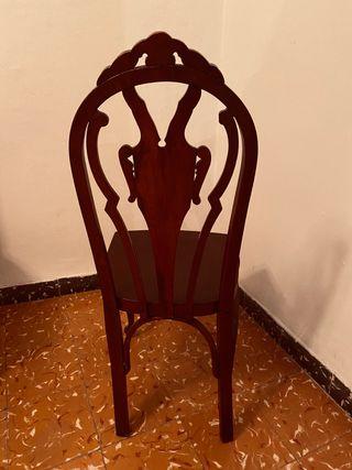 Pack 6 sillas , imitación siglo 15.