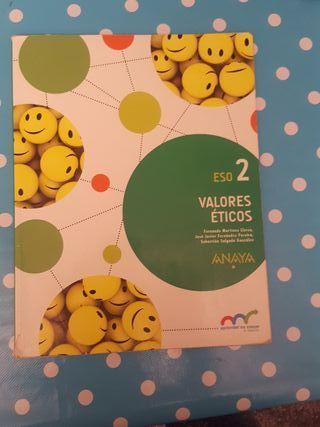 libro de valores éticos de 2 ESO