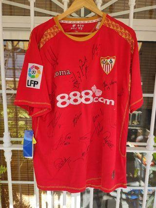 Camiseta firmada plantilla Sevilla 2008/09