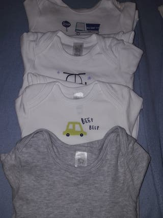 LOTE! 4 BODYS 12 meses 80 cm manga larga bebe