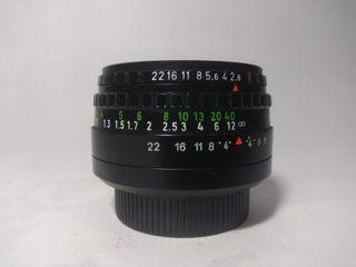 Objetivo domiplan 50mm 2.8 M42