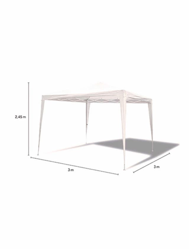 Carpa plegable blanca 3 m x 3 m
