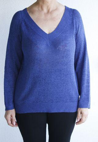 Jersey azul talla grande