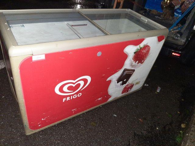 congelador expositor de helado. frigo