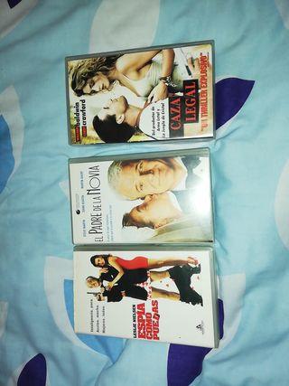 3 películas VHS. originales.